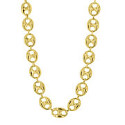14k Yellow Gold Solid Mariner Link Chain Necklace 30 4.9mm 46.2 Grams