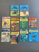 French Magazine And Comics Bundle Tintin And Lucky Luke - Excellent Free Ship