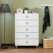 Chest Of Drawers 5 Drawer Dresser Bedroom Nightstand Size Storage Cabinet