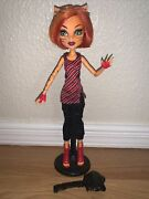 Monster High Toralei Stripe Doll Wave 1 First Wave 1st Wave No Tail 3 W/stand
