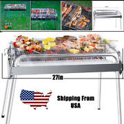 Portable Bbq Grill Charcoal Outdoor Party Pit Patio Backyard Meat Cooker Smokerand