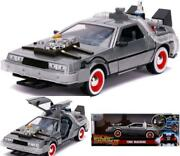 Back To The Future Part Iii 124 Time Machine Die-cast Car Light Up Feature