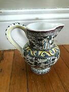 Filper Hand Painted Pitcher Signed And Numbered Made In Portugal