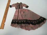 Antique French Fashion 2 Pc Dress Gown For 14-15 Doll