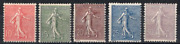 Stamps France Year 1903 Type Sower Line Series N°129 To N° 133 New