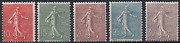 Stamps France Year 1903 Type Sower Line Series N°129 To N° 133 Brand New