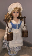 """Alberon Dolls Limited Edition Ceramic Doll 22""""/56cm With Certificate"""