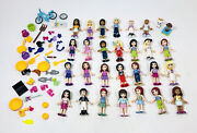 Lot Of 27 Lego Friends Minifigures With Accessories And Animals