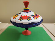 Vintage Spinning Toy Tops Lbz Metal Plastic Push Knob Toys And Train Retro
