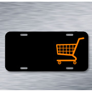Shopping Cart Caddy Shopping Trolley On License Plate Car Front Add Names