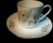 1977 Royal Doulton Yorkshire Rose Demitasse Coffee Cup And Saucer Set England