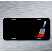 Paintbrush Tool Painting Paints Red On License Plate Car Front Add Names