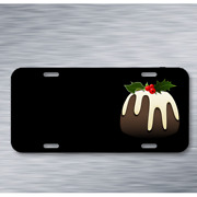 Christmas Pudding Xmas Festive On License Plate Car Front Add Names