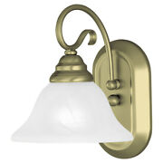 Livex Lighting 6101-01 Coronado Bathroom Vanity Light Antique Brass