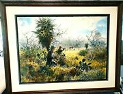 John Cowan Coming To Horns Giclee 1995 Whitetail Hunting New Frame