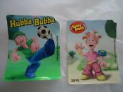 Vintage Bubble Chewing Gum Wrappers Hubba Bubba 24/40, 38/40, 9/40, 6/40, 22/40