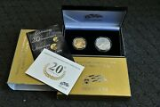 2006 W American Eagle 20th Anniversary Gold And Silver Coin Set