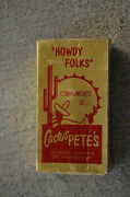Vintage Cactus Petes Casino Comp Gift Shot Glass And Mini Bottle In Box 1959