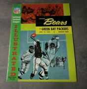 1963 Chicago Bears Vs Green Bay Packers Official Nfl Program Many Signatures