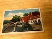 Rr Station Black Mountain Nc Post Card Ford Dealer Gas Station On Right