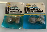 2pc Of Solid Lead Top Post Mount Car Battery Terminal Oem Standard Power Ground