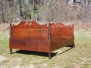 Antique 19th C. Mahogany Double Full Bed Daybed