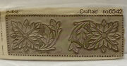 Vintage Tandy Leather Craft Carving Pattern Billfold Craftaid 6542 Flowers