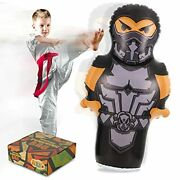 Inflatable Punching Bag For Kids 56 Inches Ninja Bop Bag Toy Bounce Back With S
