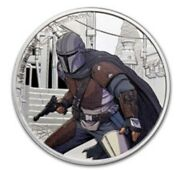 2021 Niue Mandalorian 1 Oz Colored Silver Proof Coin 1st In Series