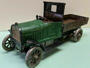 Antique 1940s Steel Chevrolet Toy Truck Car Painted Vintage Modified Wind Up