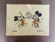 1930s-1940s Rare Mickey And Minnie Mouse Little Travel Case- Wdp