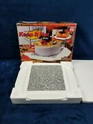 The Original Keep It Hot Microwaveable Hot Plate Solid Granite Core In Box Vtg
