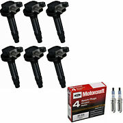 Motorcraft Iridium Spark Plug Set And Engine Ignition Coil For Ford F-150 3.5l V6