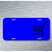 Cart Shopping Supermarket On License Plate Car Front Add Names