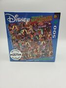Disney World's Most Difficult Jigsaw Puzzle Villains / Poster 500 Pieces New