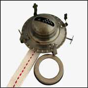 2 Antique Brass Plated Oil Lamp Burner, With Screw On Collar For 2 Oil Lamps