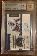 Tyron Smith 2011 Panini Playoff Contenders Rc Rookie Ticket Auto /23 Bgs 8.5
