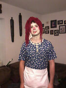 Raggedy Ann Plus Size Adult Costume Fits Up To Size 18 Storybook Story Xl
