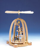 Table Pyramid Christmas Figures Natural Height 16 1/8in New Table Decoration