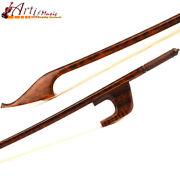 5star Master Antique Snakewood Baroque Style Double Bass Bow Snakewood Frog 128g