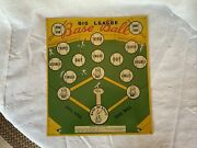 Vintage Safe T Dart Electro Metal Dart Board And Big League Baseball Game - 1950and039s