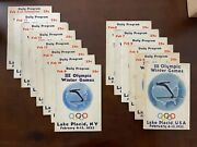 1932 Lake Placid Olympic Complete Set Of Official Programs