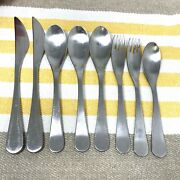 8 Pieces Cambridge Modern Satin Stainless Steel Flatware 1 Fork And 3 Spoons . Htf