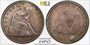 1857 1 Seated Liberty Dollar Pcgs Xf Extra Fine Details Plugged Key Date Tou...