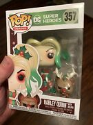 Funko Pop Heroes Dc Harley Quinn With Helper 357 Holiday 2020