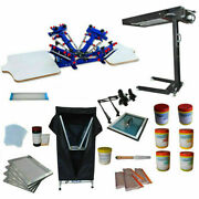 4 Color 2 Station Screen Printing Kit For Colorful Printing With Micro-adjust