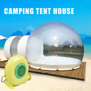 Inflatable Grade One Room Pvc Clear Eco Dome Camp Bubble Tent +blower 110v 300w