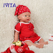 Xmas Gift Ivita 19 Silicone Reborn Baby Doll Girl Accompany Toys Babies+clothes