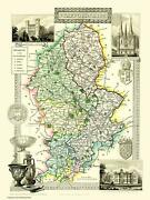 Map Of Staffordshire 1836 By Thomas Moule 1000 Piece Jigsaw Puzzle Jg