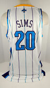 2012-13 New Orleans Hornets Henry Sims 20 Game Issued Pos Used White Jersey 129